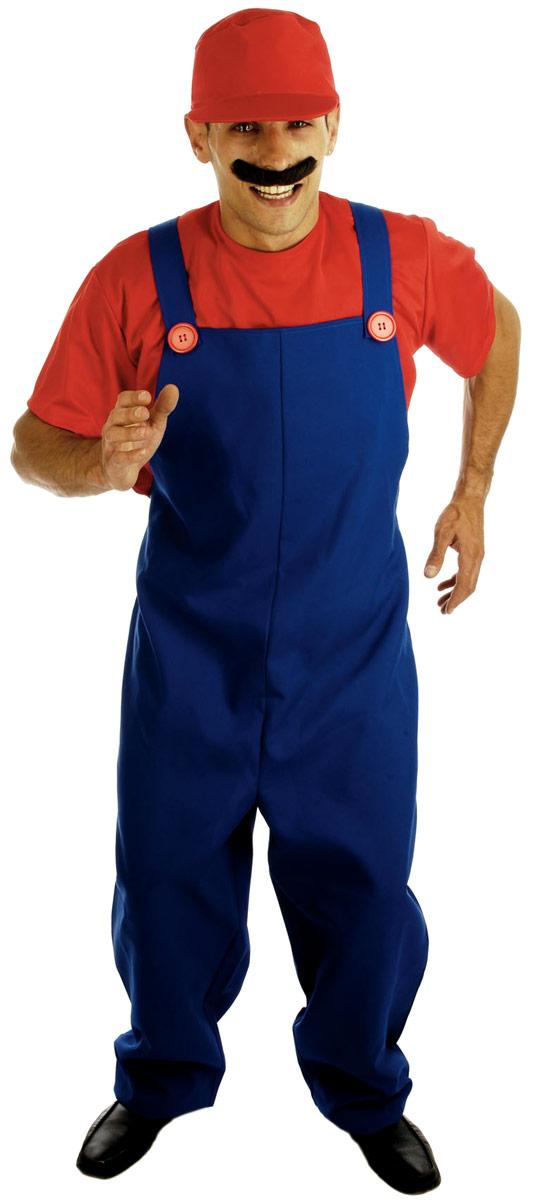Costume de Mario 80 ' s plombiers s'accouplent Costume rouge