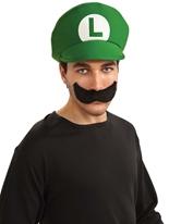 Luigi Moustache et chapeau Kit Costume de Mario