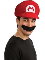 Mario Moustache et chapeau Kit Costume de Mario