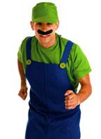 80 ' s plombiers s'accouplent Costume vert Costume de Mario