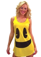 Jaune PacMan Tank robe Costume Costume Pacman