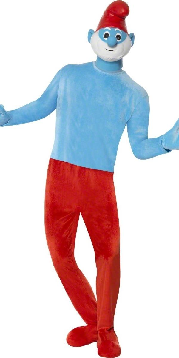 Costume Schtroumpf Costume de luxe Papa Smurf