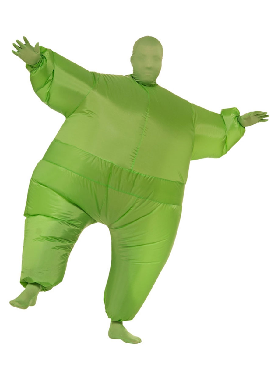 Seconde Peau Gonflable seconde peau Costume vert