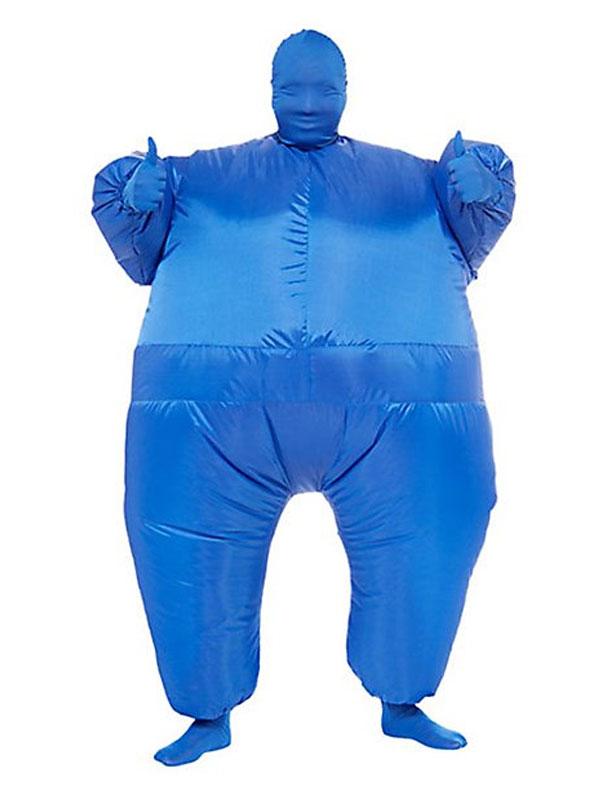 Seconde Peau Bleu de Costume gonflable seconde peau