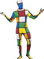 Costume de Rubik Cube seconde peau Seconde Peau