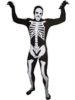 Morphsuit squelette noir Seconde Peau