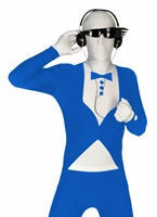 Bleu Morphsuit Smoking Seconde Peau