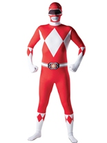 Power Ranger rouge Ranger deuxième peau Costume Seconde Peau