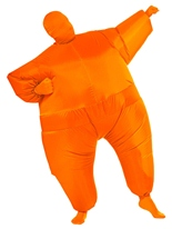 Gonflable seconde peau Costume Orange Seconde Peau