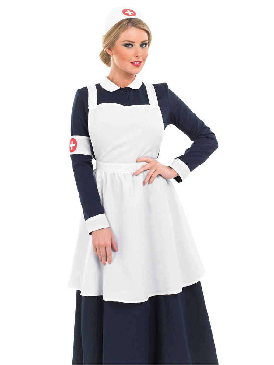 Déguisement Victorien Costume infirmière victorien