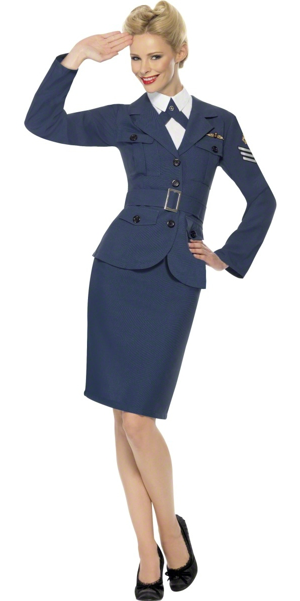 Costume Années 1940 WW2 Costume femme capitaine de la Force aérienne