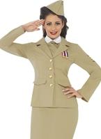 Costume de femme officier rétro des années 1940 Costume Années 1940