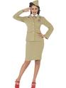 Costume Années 1940 Costume de femme officier rétro des années 1940