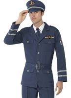 WW2 Costume de capitaine de la Force aérienne mâle Costume Années 1940