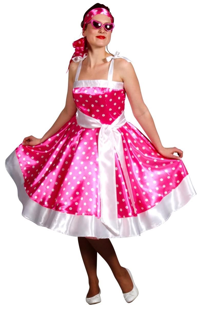 Costume Années 1950 années 50 rock n Roll rose robe