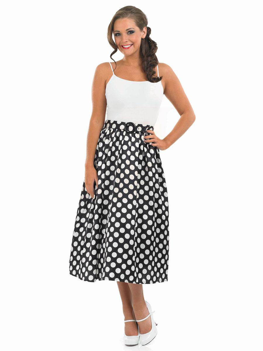 c9a500a8e1c 1950 noir Rock N Roll jupe Costume Années 1950