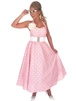 Journée rose 1950 robe Costume Costume Années 1950