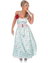 bleu jour 1950 robe Costume Costume Années 1950