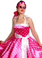 années 50 rock n Roll rose robe Costume Années 1950