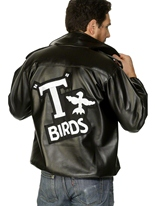 Graisse de mens T-Bird Jacket Costume Années 1950
