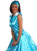 années 50 rock n Roll bleu robe  Costume Années 1950