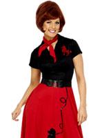 Rouge et noir de Costume de caniche Costume Années 1950