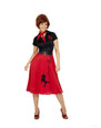 Costume Années 1950 Rouge et noir de Costume de caniche