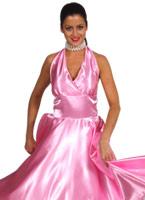 Robe de Satin rose de 1950 Costume Années 1950
