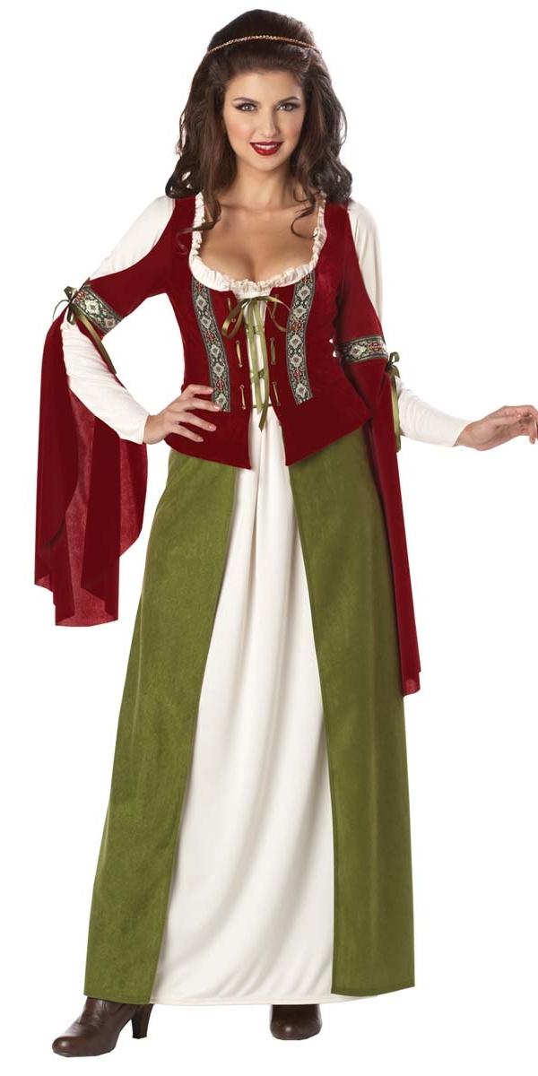Costume Médiévaux Costume de Maid Marion