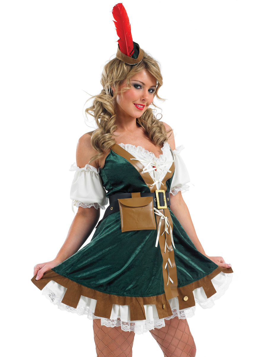 Costume Sexy Robin Des Bois Costume M Di Vaux Costume D Poque  ~ Déguisement Robin Des Bois Femme Adulte