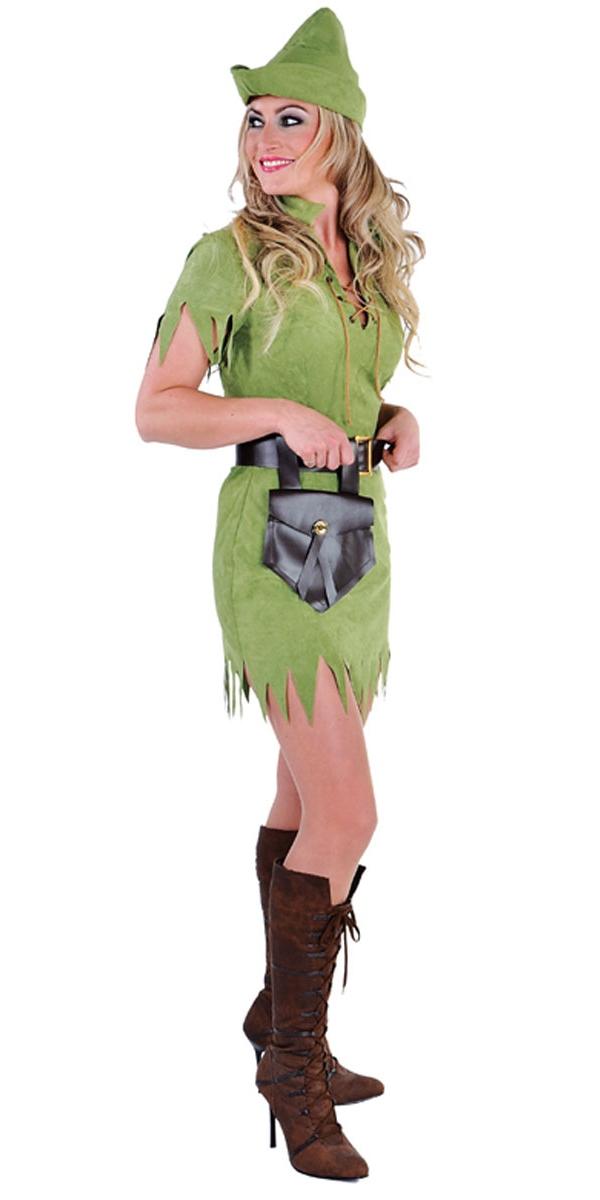 Costume Médiévaux Costume de fille de Robin des bois luxe