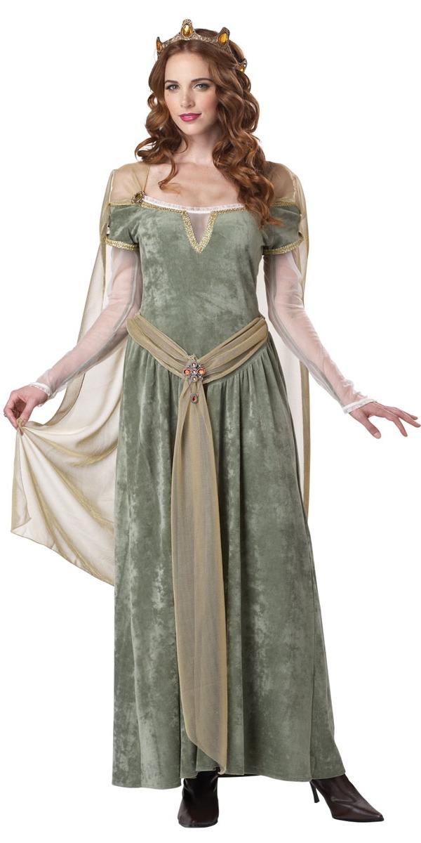 Costume Médiévaux Costume de reine Guenièvre