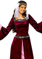 Maid Marion Costume violet Costume Médiévaux