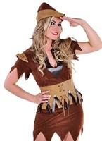 Costume de fille de Robin des bois luxe Costume Médiévaux