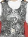 Déguisement Romain Romain soldats cuirasse armure d'argent en caoutchouc