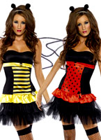 Réversible Bumble Bee Lady Bug Costume Deguisement abeille
