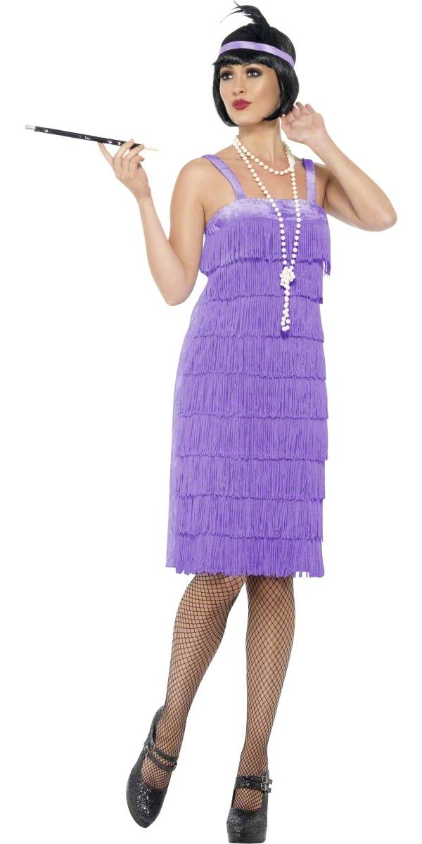 Deguisement cabaret Costume lilas Flapper Jazz