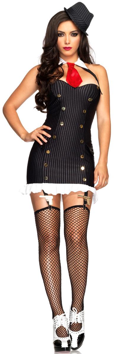 Deguisement cabaret Costume Gangster Suzy silencieux