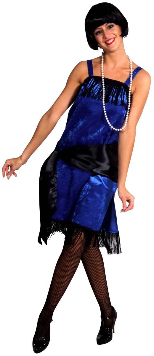 Deguisement cabaret Charleston Flapper Dress BLUE