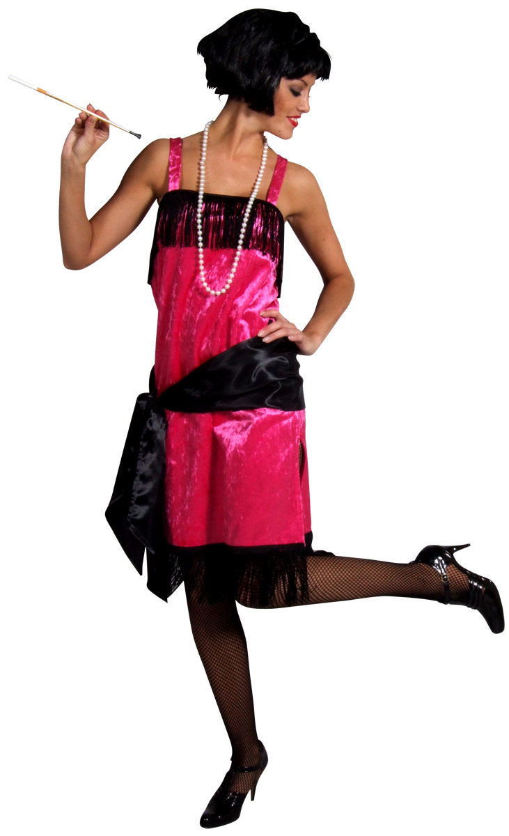 Deguisement cabaret Charleston Flapper Dress PINK