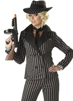 Costume gangster Lady Deguisement cabaret