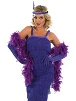 années 1920 roaring clapet Purple Costume Deguisement cabaret