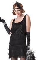 Mode garçonne Costume noir Deguisement cabaret