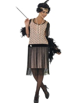 Coco de 1920 ' s Flapper Costume Deguisement cabaret