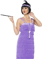 Costume lilas Flapper Jazz Deguisement cabaret