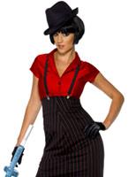 Costume de Gangster des années 1920 Mesdames Deguisement cabaret