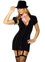 Costume de gangster Mesdames Deguisement cabaret