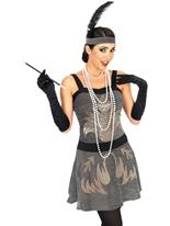 Costume Robe Cocktail des années 1920 Deguisement cabaret