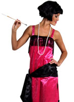 Charleston Flapper Dress PINK Deguisement cabaret