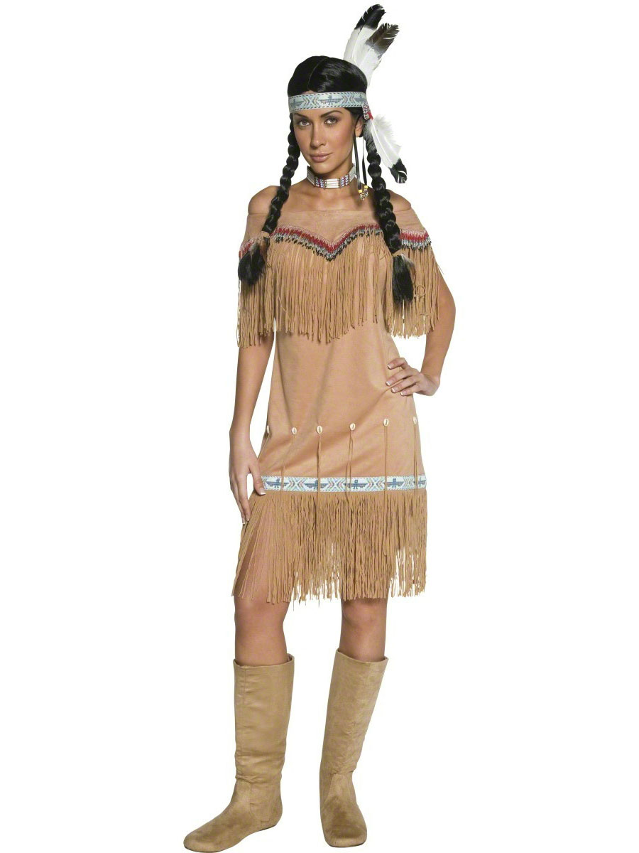 Deguisement cowgirl Costume indien Lady